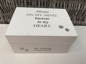 Personalised In Memory Of Box Loved One ~ MUM ~ MAM ~ any Name Bereavement Loss - 253568290993